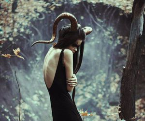 forest, black, and horns image