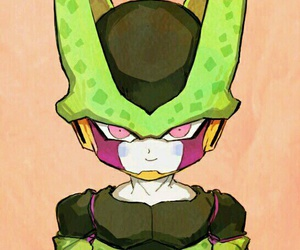 cell, chibi, and dragon ball image