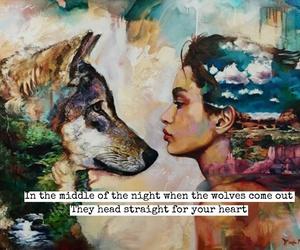 easel, Lyrics, and wolves image