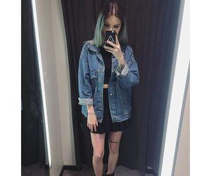 dyed hair, fashion, and grunge image