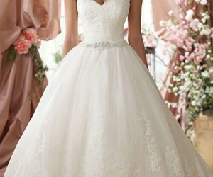 wedding dress, wedding, and fashion image