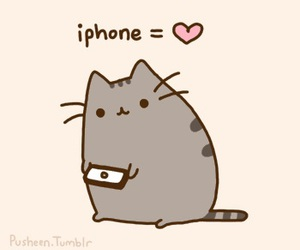 iphone, cat, and pusheen image