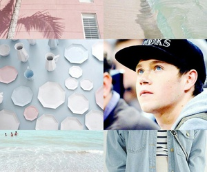 background, pink, and niall image