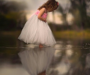 childhood, party dress, and young girl image