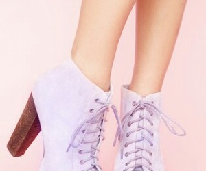 boots, pastel, and heels image