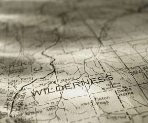 travel, map, and wilderness image