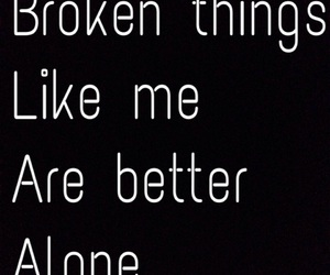 alone and broken image