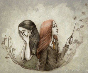 harry potter, book, and lily image