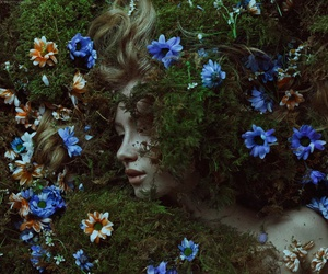 flowers, girl, and fantasy image