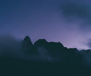 night, mountains, and sky image