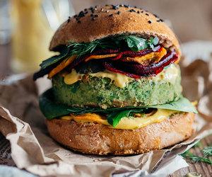 burger, vegan, and food image