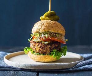 burgers, food, and vegan image