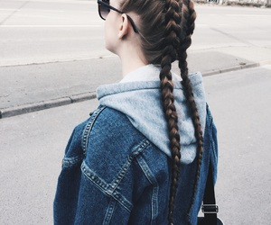braids, hair, and hipster image