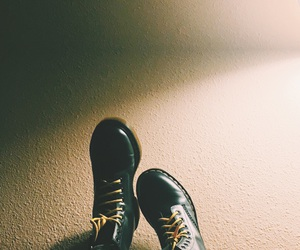 doc martens, happy, and shoes image