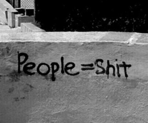 people, shit, and black and white image