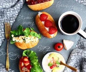 breakfast, brunch, and bun image