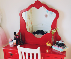 red, room, and decoracao image