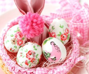 bunny and eggs image