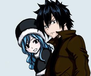 gruvia, fairy tail, and juvia image