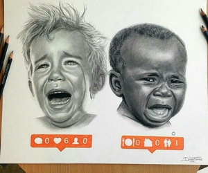 African, black, and draw image