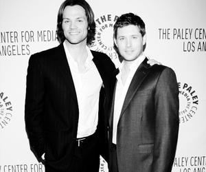 black and white, Jensen Ackles, and jared padalecki image