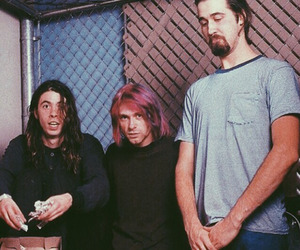 nirvana, dave grohl, and kurt cobain image