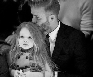 David Beckham, family, and daughter image
