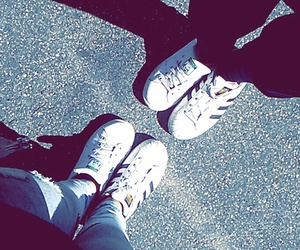 adidas, best friends, and girls image