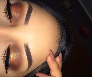 brown, dark, and eyebrows image