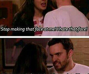 new girl, face, and funny image