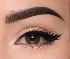 eyebrows, on fleek, and eyeliner image
