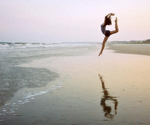 beautiful, jump, and sea image