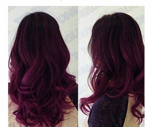curls, hairstyle, and maroon image