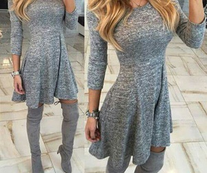 clothes, dress, and grey image