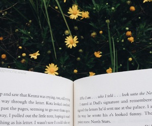 books, favorites, and flowers image