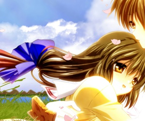 clannad, anime flowers, and anime shojo image