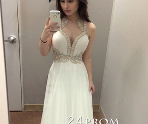 fashion and ivory prom dresses image