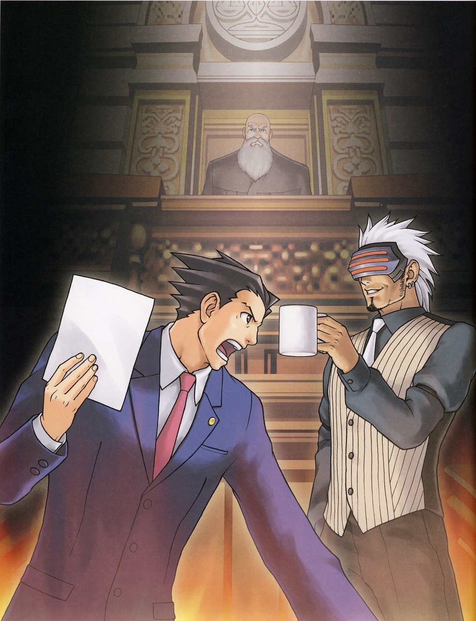 Ace Attorney Official Art Pesquisa Google On We Heart It