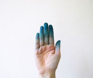 blue, hand, and vintage image