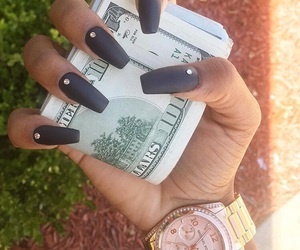 nails, black, and money image