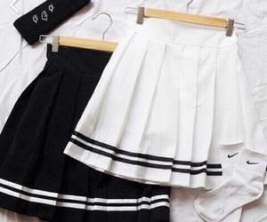 skirt, black, and white image