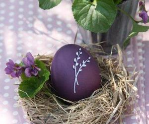 easter, easter eggs, and purple image