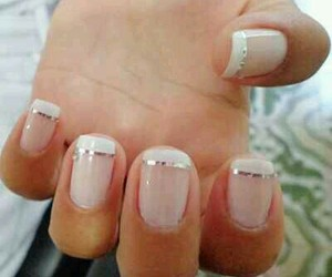 nails, french manicure, and Prom image