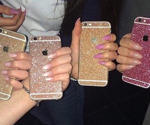 iphone, luxury, and pink image