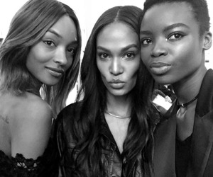 black and white, models, and joan smalls image