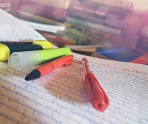 books, exam, and marker image