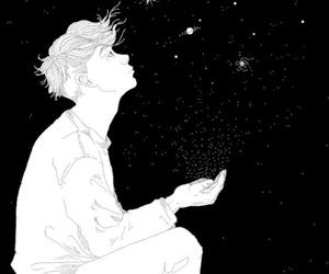 stars, boy, and art image