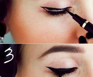 eyeliner, makeup, and make up image