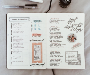 study, bullet journal, and journal image