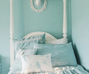 light, bedroom, and chic image